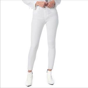 Joe's Hi Rise Honey Curvy Ankle Skinny Jeans White